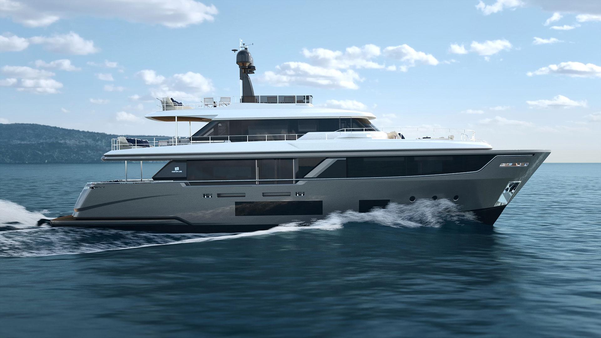 Ferretti Custom Line Navetta 30: quasi 30 metri di lusso e stile