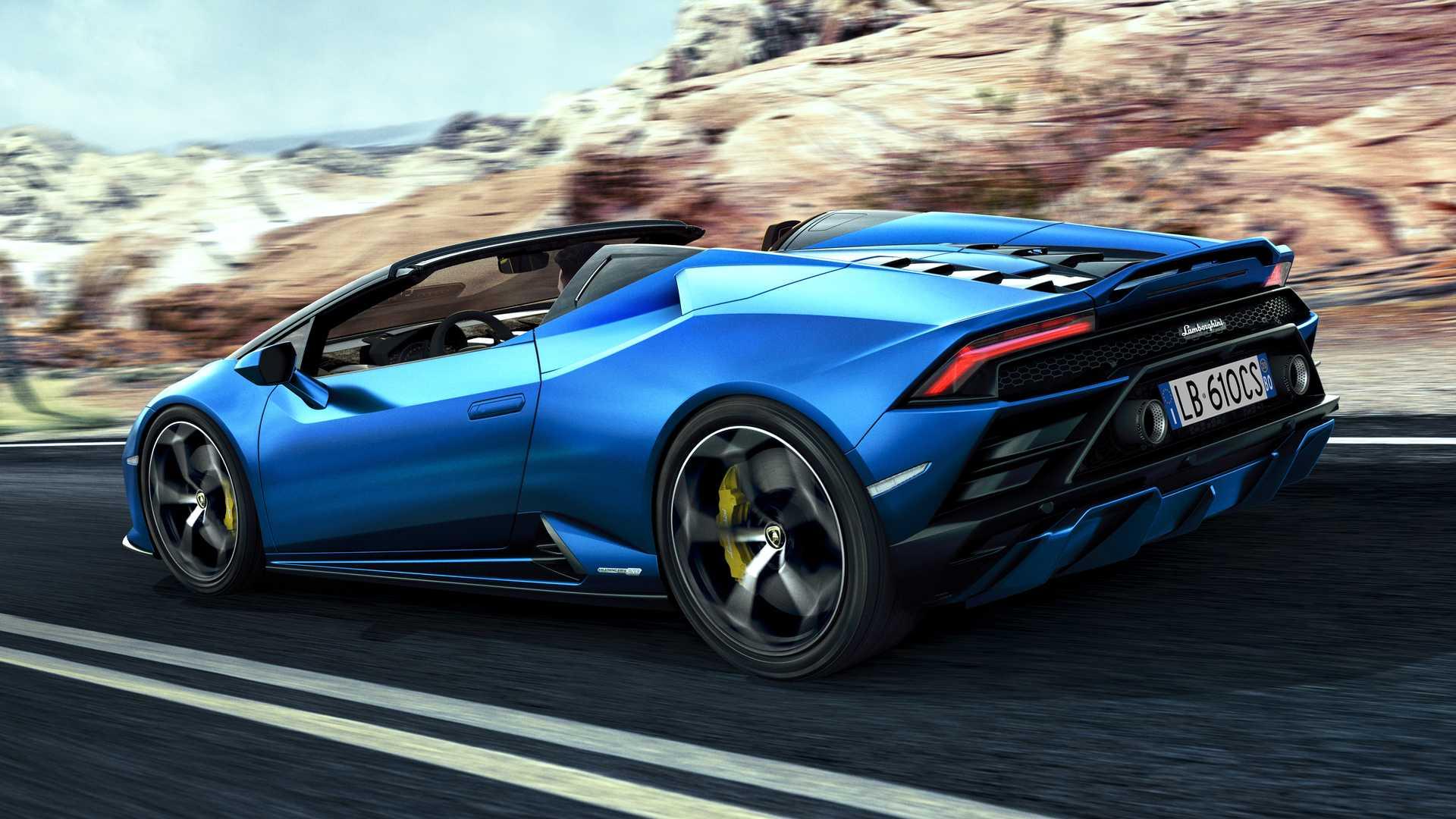 Lamborghini Huracán EVO RWD Spyder: 610 CV, trazione posteriore e vento tra i capelli