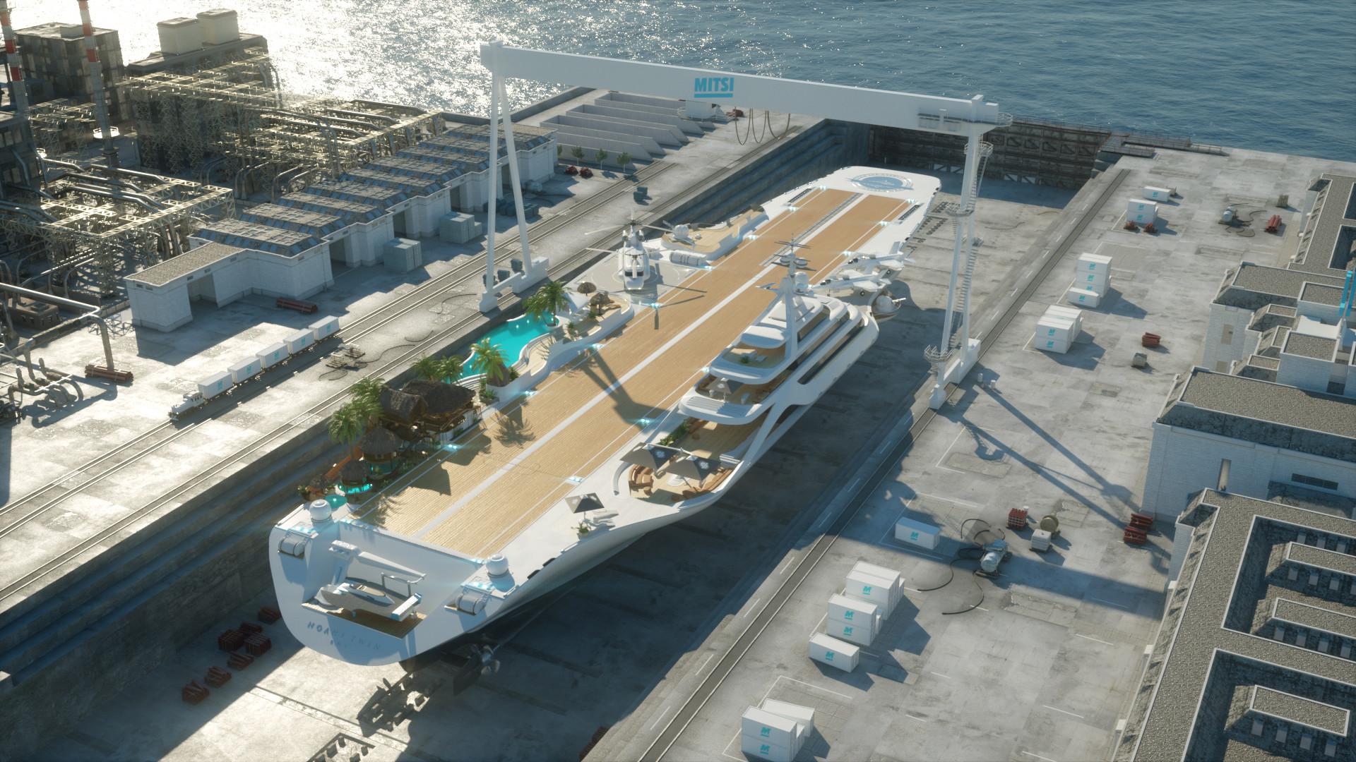 Mitsi Studio: ecco il concept del primo yacht ispirato alle portaerei